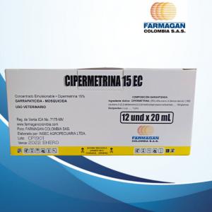 Cipermetrina 15% CAJA X 12 FCOS X 20 ML